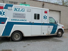The KLG ambulance was also in attendance.